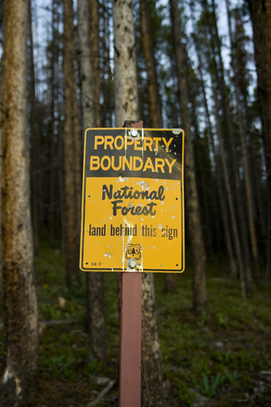 National Forest Boundary Sign
