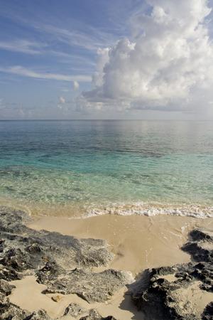 Rocky Shore in the Bahamas Stock Photo
