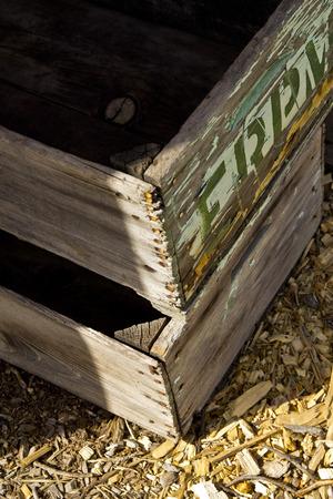 Rustic Produce Crates Stock fotó