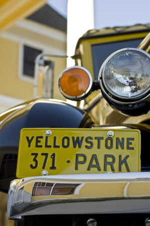 Antique Yellowstone Bus Banco de Imagens