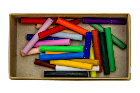 oil pastels: Oil pastels in the box