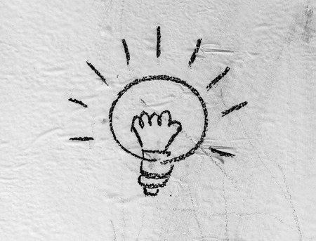 scriibble: Halogen bulbs are written on the background boards. Stock Photo