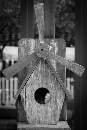birds home made from wood Standard-Bild
