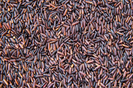 Brown rice or Rice berry close-up texture