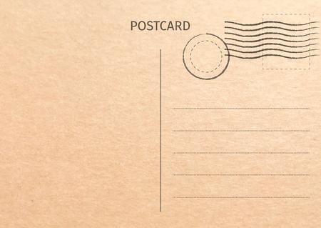 Postkarte. Postkartenillustration für Ihr Design. Design der Reisekarte. Vintage-Postkarte. Alte Papierstruktur. Vektor-Illustration. Vektorgrafik
