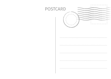Postcard. Postal card illustration for design. Travel card design. Postcard isolated on white background. Vector illustration. Standard-Bild - 118102524