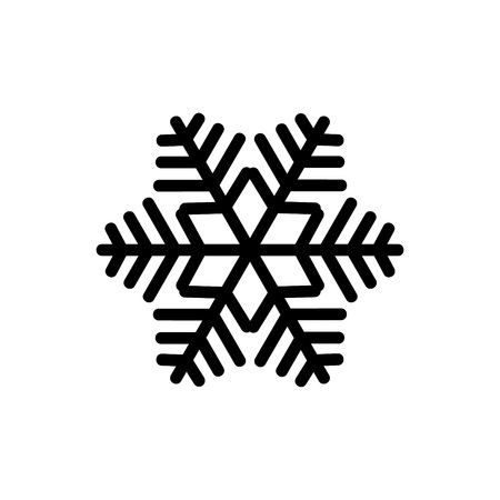 Black snowflake isolated on white background. Snowflake icons. Snowflake for design Christmas and New Year banner and cards. Vector illustration.