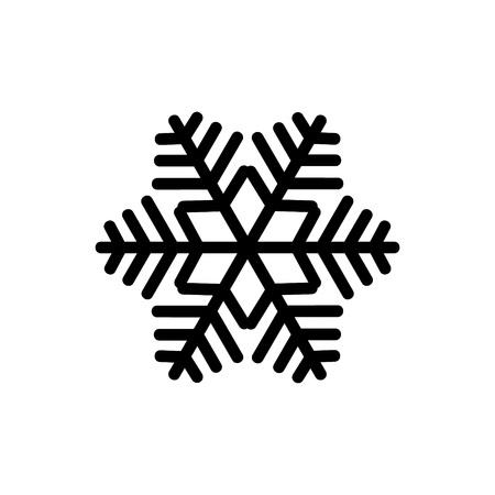 Zwarte sneeuwvlok geïsoleerd op een witte achtergrond. Sneeuwvlok pictogrammen. Sneeuwvlok voor ontwerp Kerstmis en Nieuwjaar banner en kaarten. Vector illustratie.