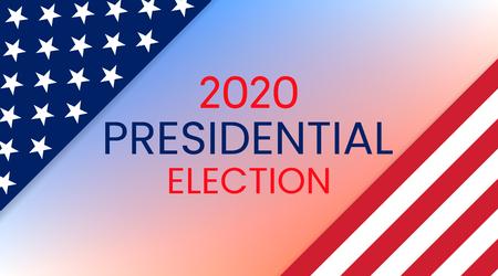Elezioni presidenziali degli Stati Uniti d'America 2020. Illustrazione vettoriale. Vettoriali