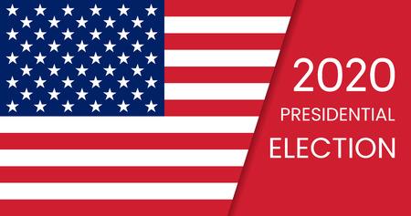 Elezioni presidenziali degli Stati Uniti d'America 2020. Illustrazione vettoriale.