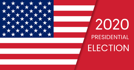 United States of America Presidential Election 2020. Vector illustration. Vectores