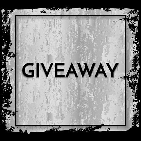 Time for a giveaway - banner template. Giveaway phrase on silver and black background. Ilustrace