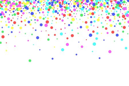 Colorful confetti on white background. Multicolored festive background. Vector illustration. Stock Illustratie