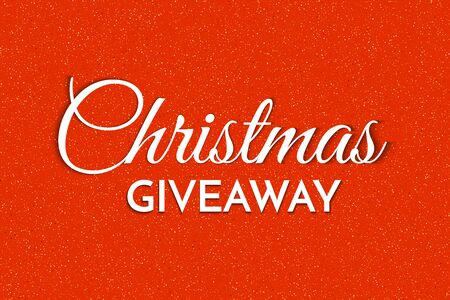Christmas giveaway - banner template. Christmas Giveaway phrase on red background. Vector illustration.