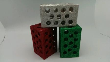 chrome: Christmas theme bricks Stock Photo
