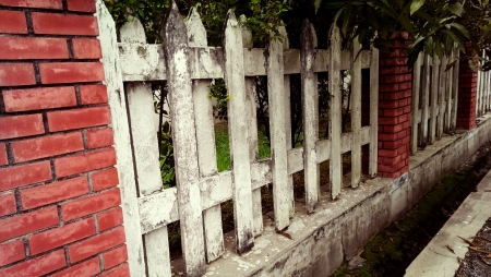 fence: Old fence