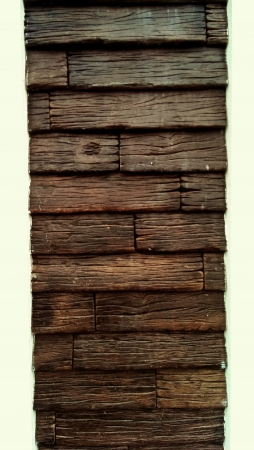 creative: Wooden planks on wall