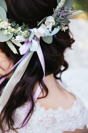 chic: bohemian chic bride Stock Photo