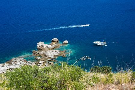 mediterranean blue sea, scily