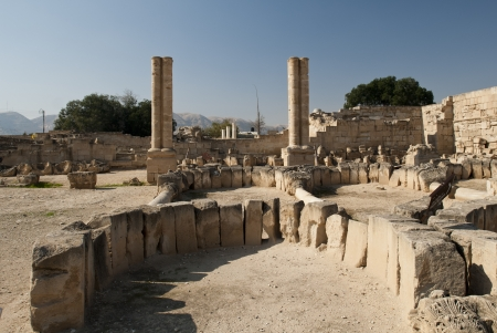 Some ruins of the Jericho roman town Stock Photo - 14789411