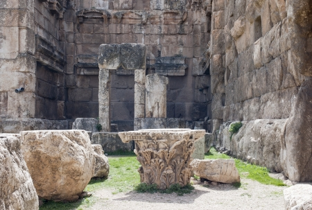 heliopolis: Big stones in the Baalbek ruins, Lebanon