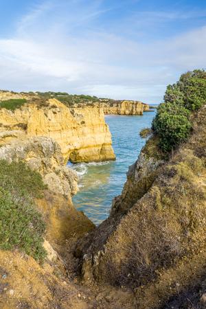 region of algarve: Cliffs located in the region of Algarve, Portugal.