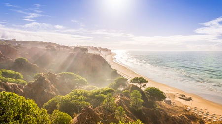 region of algarve: Falesia beach is located in the region of Algarve, Portugal. It is one of the most touristic and beautiful beaches of the region.