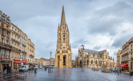st jamess: The Basilique Saint-Michel is a Gothic building constructed between the 14th and 16th centuries. It is one of the most famous attractions of the city of Bordeaux, France. It is alos a stop of the St. Jamess Path. Editorial