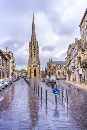 The Basilique Saint-Michel is a Gothic building constructed between the 14th and 16th centuries. It is one of the most famous attractions of the city of Bordeaux, France. It is alos a stop of the St. Jamess Path. Editorial