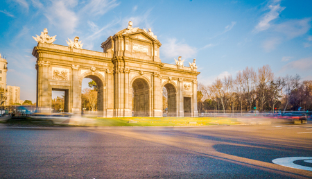The Alacala Door (Puerta de Alcala) is a one of the ancient doors of the city of Madrid Spain. It was the entrance of the people coming from France, Aragon, and Catalunia. Editorial