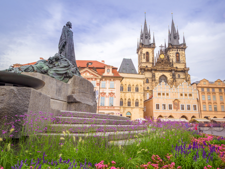 The Old Town Square is the biggest square in Prague, Czech Republic. It hosts some of the local famous attractions as the Church of Our Lady before Tyn.