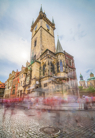 The Old Town Hall, Prague, Czech Republic, is one of the most famous attractions in the city. It is located in Old Town Square, and holds third-oldest astronomical clock in the world.