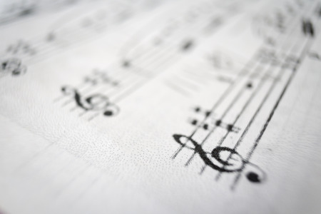 music score: A music score sheet with the focus on the G-clef.