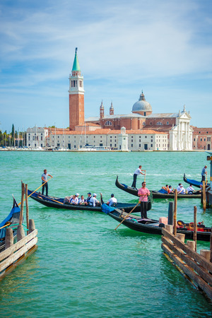 Transportaion in Venice, Italy, is done via boat through the many canals crossing the city. The gondolas are now one of the main ways to visit the corners of the city.