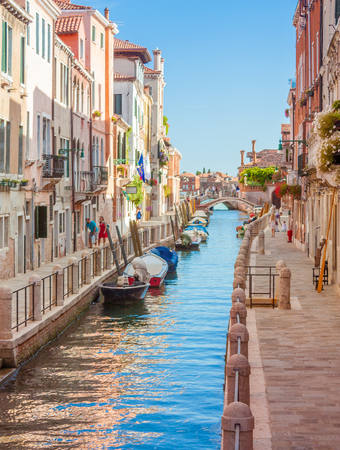 Transportaion in Venice, Italy, is done via boat through the many canals crossing the city. The boats are the main way to visit the corners of the city. Editorial