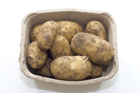 Potatoes in a box  photo