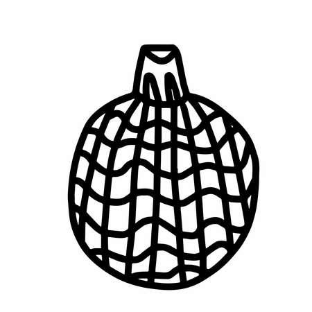 Christmas tree decoration.Scandinavian style.Doodle black sketch line illustration.Design for background, web and coloring.