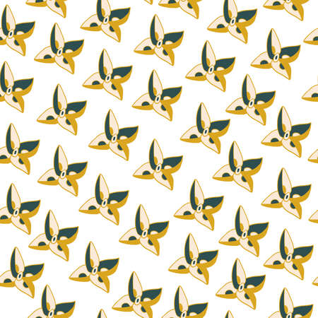 Seamless vector pattern with geometric tub in trend color.Abstract print with tidewater green, Sail Champagne, Fortuna Gold.Design for textiles, wallpaper, wrapping paper, packaging, web, social networks.