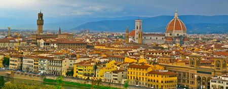 florence italy: City skyline of Florence, Italy