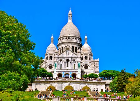 paris france: The Sacre-Coeur in Paris, France