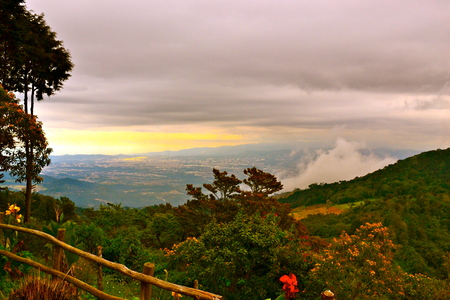 atop: View from atop a mountain in central Guatemala