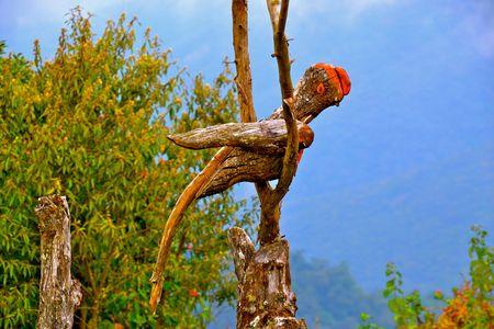 national bird: A carving of a Quetzal, the national bird of Guatemala Stock Photo