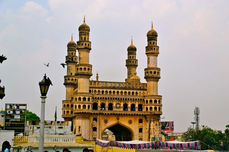 hyderabad: The Charminar in Hyderabad, India Stock Photo