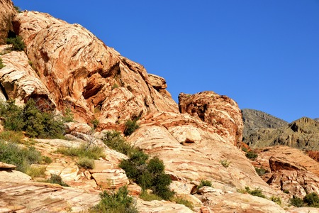 red rock national conservation area: Exquisite boulders at Red Rock Canyon National Conservation Area in Nevada Stock Photo