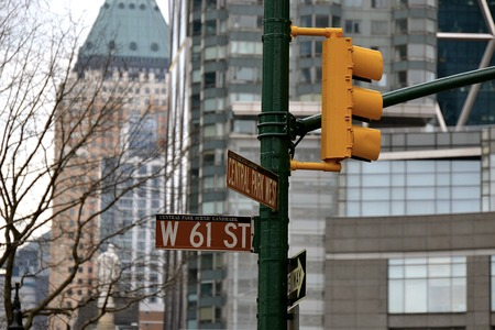 street signs: City street signs in Manhattan Stock Photo