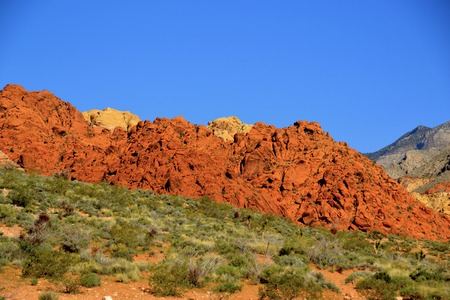 Breathtaking rock hills at Red Rock Canyon National Conservation Area in Nevada