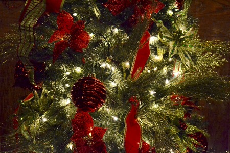 christmas scent: Evergreen Christmas Decorations that capture the spirit and scent off the Holiday season. Stock Photo