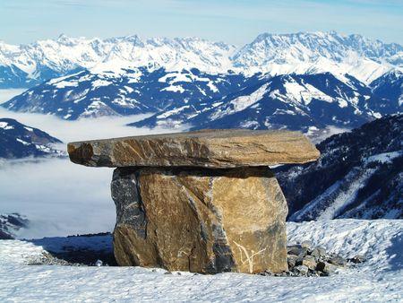 stone monument in mountain Stock Photo