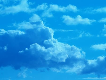 sky and clouds in blue