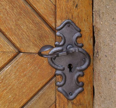historic metal handle Stock Photo